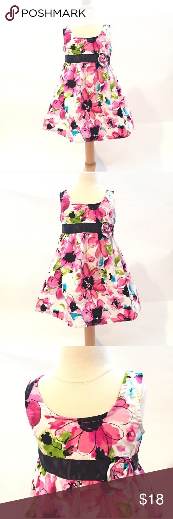 Pink Floral Dress Sz 3T fancy church special dress Pink Floral Dress by Pinky. Size 3T runs a tad bit short, better for a petite 3T. EUC. Lined and has a bit of tulle for extra pouf at the bottom. Special Occasion dress. Church dress. Fancy dress. Pinky Dresses Formal