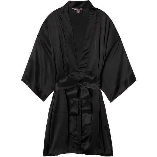 Very Sexy (425 SEK) ❤ liked on Polyvore featuring intimates, robes, wrap robe, victoria's secret, kimono robe, kimono dressing gown and bath robes