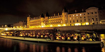 Bateaux Parisiens Dinner Cruise. Enjoy fine wines and sumptuous cuisine as you float calmly past the wonderful Paris illuminations on this delightful dinner cruise in a fully glass covered boat along the historic River Seine.