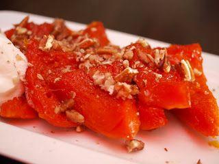 Lekker Turks eten: Pompoendessert, Kabak tatlisi