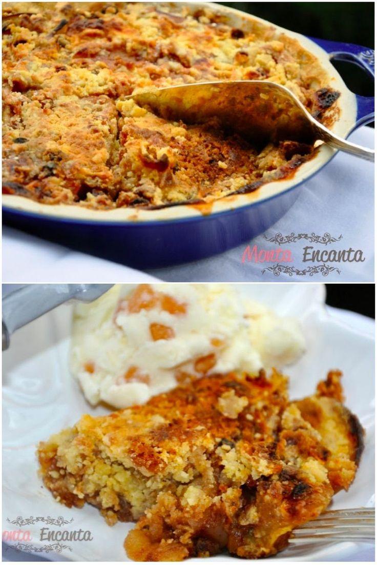 Torta Preguiçosa, Não é preciso untar a forma, nem fazer a massa, os ingredientes são sobrepostos em camadas diretamente no refratário.