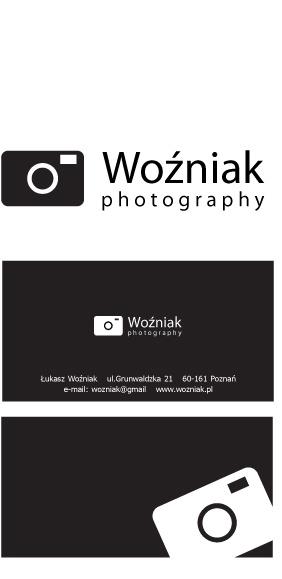 projekt loga i wizytówki dla fotografa