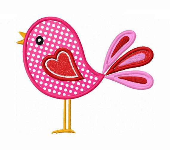 Cute Bird Applique Machine Embroidery by LovelyStitchesDesign, $2.99