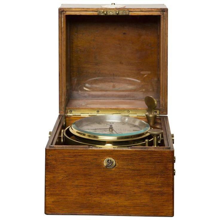 Antique Marine Chronometer by Dobbie McInnis, Glasgow, circa 1920 1