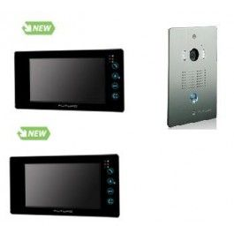 "Futuro intercom with picture memory Black Frame 7"" Touch Screen with Door…"