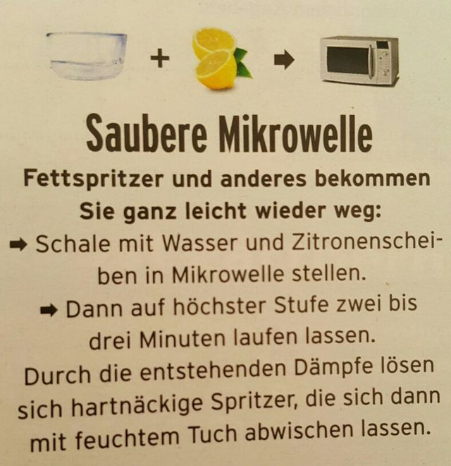 Mikrowelle einfach säubern