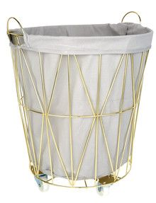 Haven Laundry Lily Laundry Hamper, Gold product photo