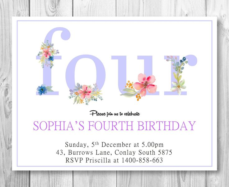 Floral Birthday Party Invitation/ Colourful birthday Party Invitation/Purple Party Invitation/Instant Download by GROWaPEARcreations on Etsy