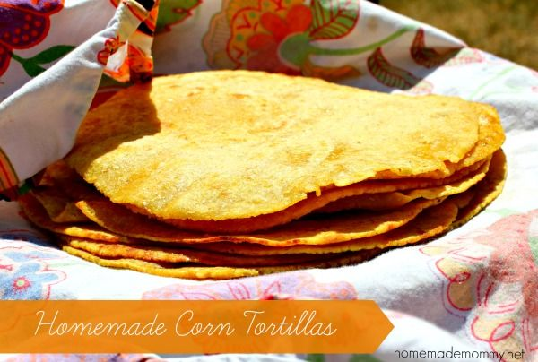 Homemade Corn Tortillas - made with Sprouted corn these are like NOTHING you have EVER tasted! So yummy!