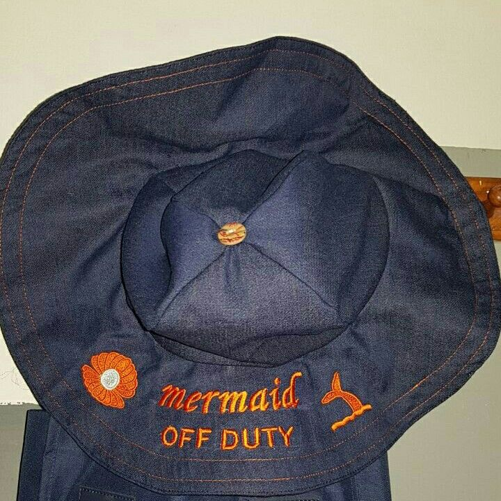 #denimhat #sunhat Mermaid Off Duty #selfmade