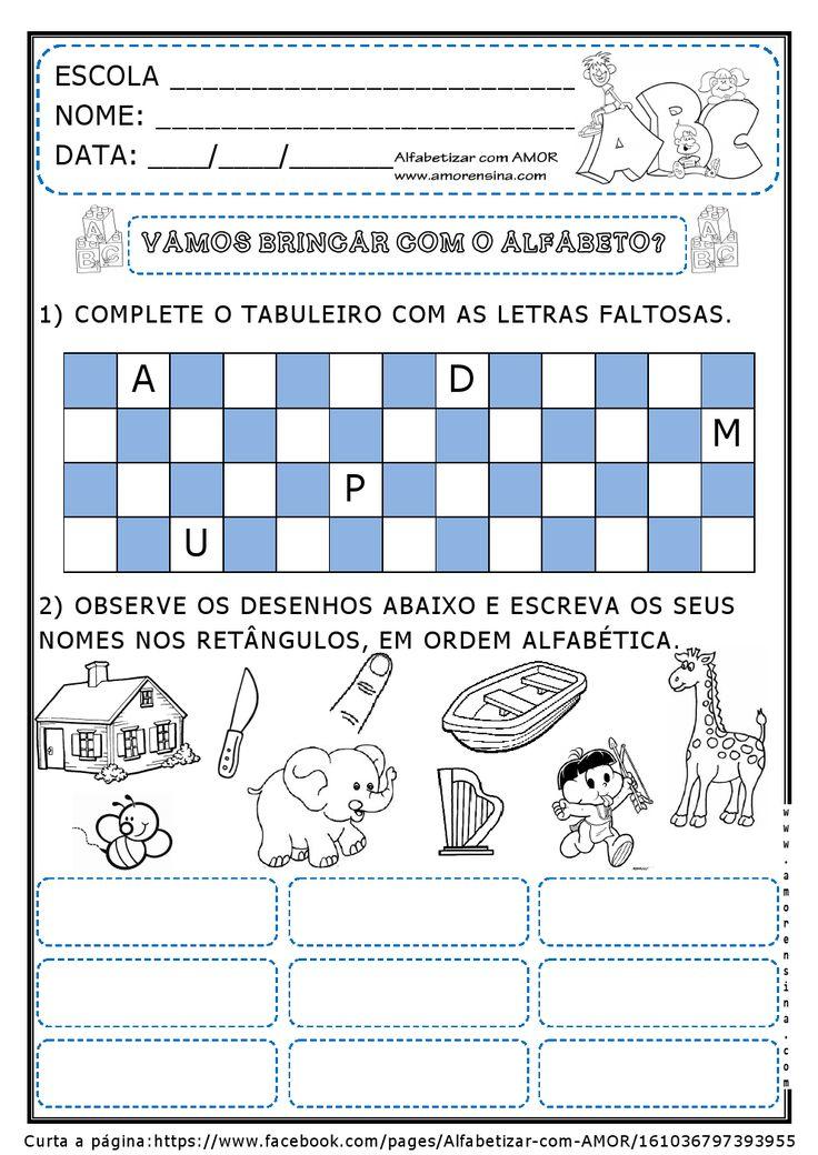 Alfabetizar com AMOR: BRINCANDO E APRENDENDO COM O ALFABETO - 2º PERÍODO/ 1º ANO/ 2º ANO