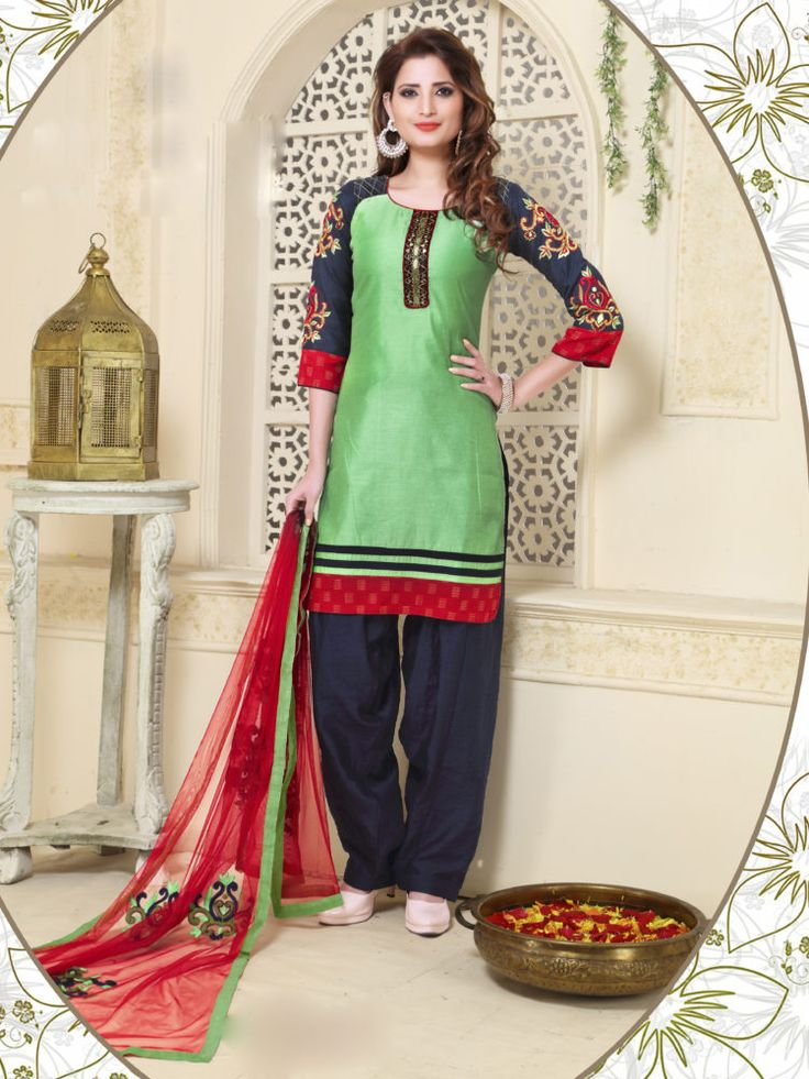 Green & Black Color Readymade Patiala Salwar Suit - ClickOnBazar  #onlinepatiala #designerpatialasalwar #patialasalwarsuits #designerpatialasalwar #clickonbazaarpatialasuits