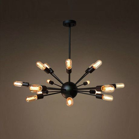 Looking for a beautiful chandelier? With a trendy look and a contemporary vibe, this modern pendant 18-light fixture delivers a casual elegance to any decor. Shaped like a solar system, its sockets radiate on Sputnik-like arms.