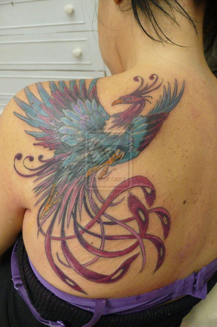 Colorful phoenix tattoo designs - 30 Phoenix Tattoos For Women And Men