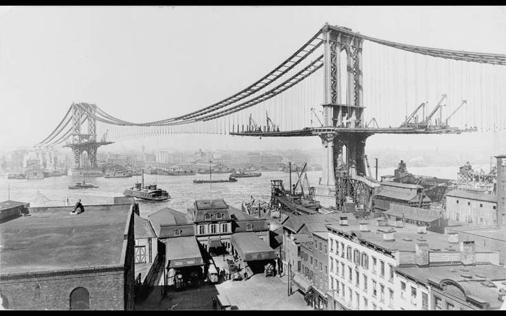 Manhattan Bridge on March 23, 1909