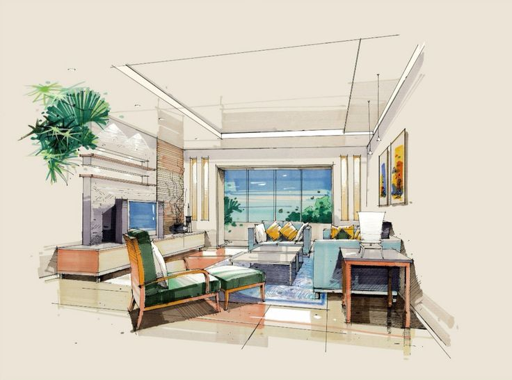 212 Best Interior Sketches Images On Pinterest