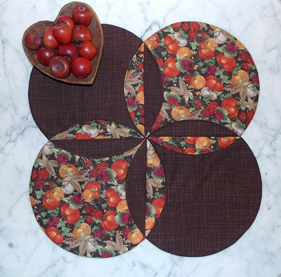 Bountiful Harvest Table Topper Runner Quilt by KeriQuilts on Etsy, $35.00