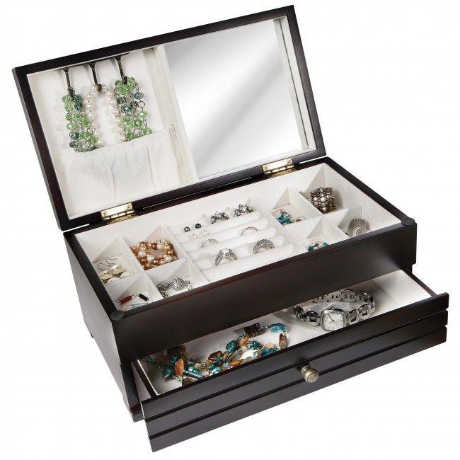 S.Peyton Home Wood Jewellery Box Black | Kitchen Stuff Plus