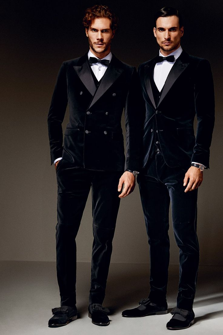 Dolce & Gabbana. I would do a the single breasted velvet jacket but not with velvet trousers... too like pajamas.