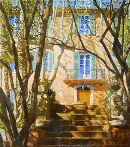 Nicholas verrall Terraced Garden Tuscany ART t