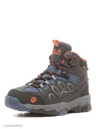 Jack Wolfskin Ботинки MTN ATTACK 2 TEXAPORE MID K  — 5190р. ---- Классические водостойкие и  туристические ботинки