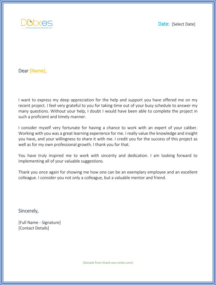 thank you for your support letter best sample letters should boss - actions when resigning internship