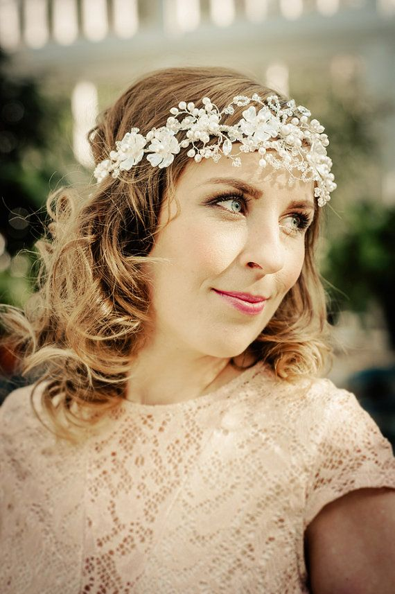 Bridal headband FLORIANNA Bridal headband FLORIANNA 22″ hand wired wedding hair vine full of tiny blossoms, leaves and berries,