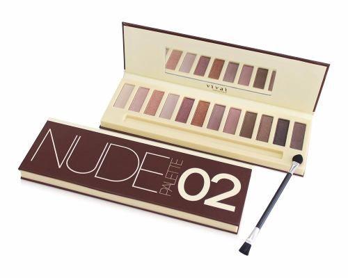Pallete Nude Vivai Paleta Sombra Fosca Opaca 2 = Urban Naked - R$ 25,90 em Mercado Livre