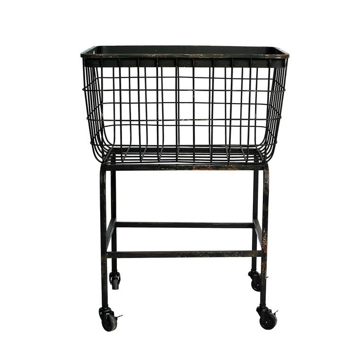 Laundry Hamper With Wheels Part - 23: Discover The Nordal Downtown Iron Basket On Wheels At Amara