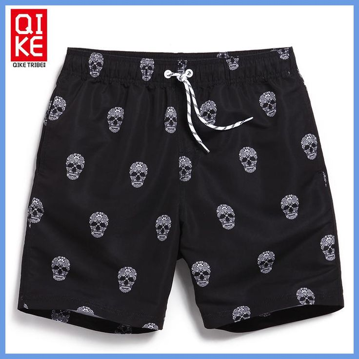 Board shorts men swimwear sweat running moda praia joggers beach skull bermudas zwembroek heren surf zwembroek man swimsuit B5
