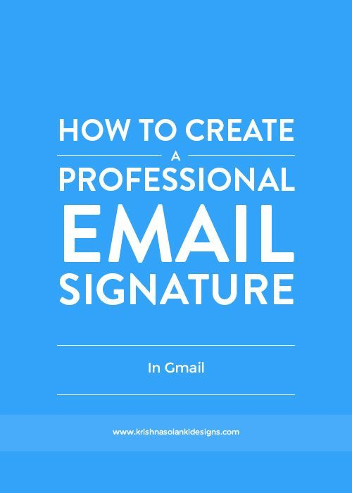 how to create the best email signature