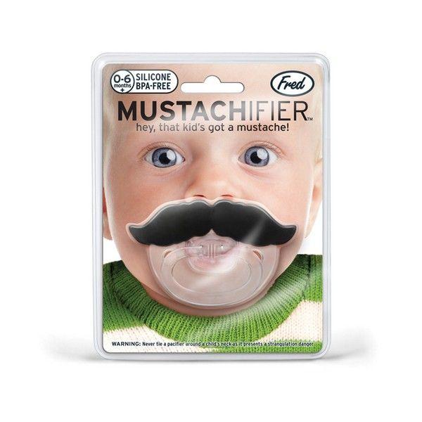 Er is niks vreemders dan een snor op een babytje. Dáárom is het juist zo schattig om ze er één te geven met de lil shaver mustache pacifier ...