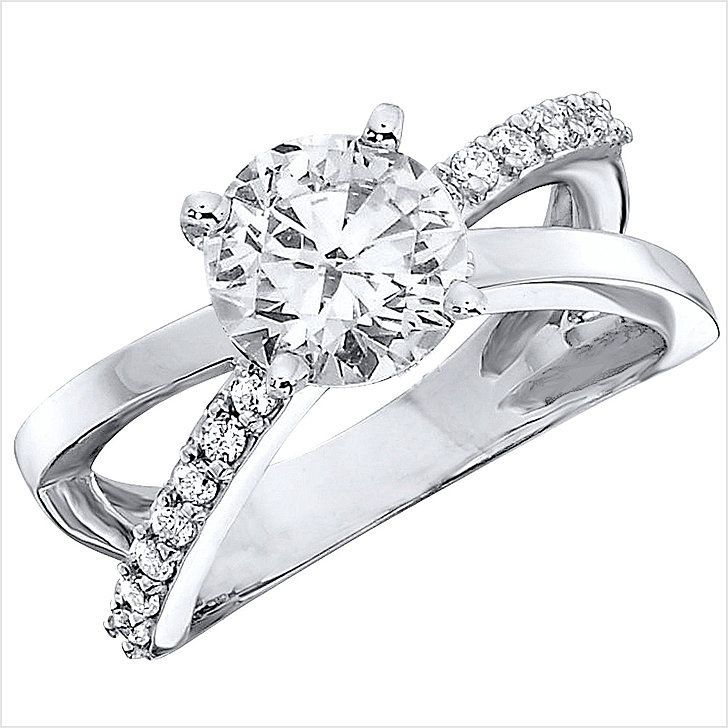 If you like classic with a modern twist:: Sam's Club 1.00 CT.T.W. Split Shank Diamond Engagement Ring in 14K White Gold ($2,606)
