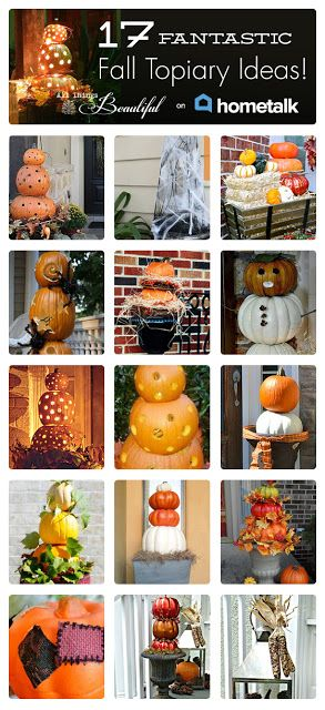 17 Fantastic Fall Topiary Ideas | curated by 'All Things Beautiful' blog!