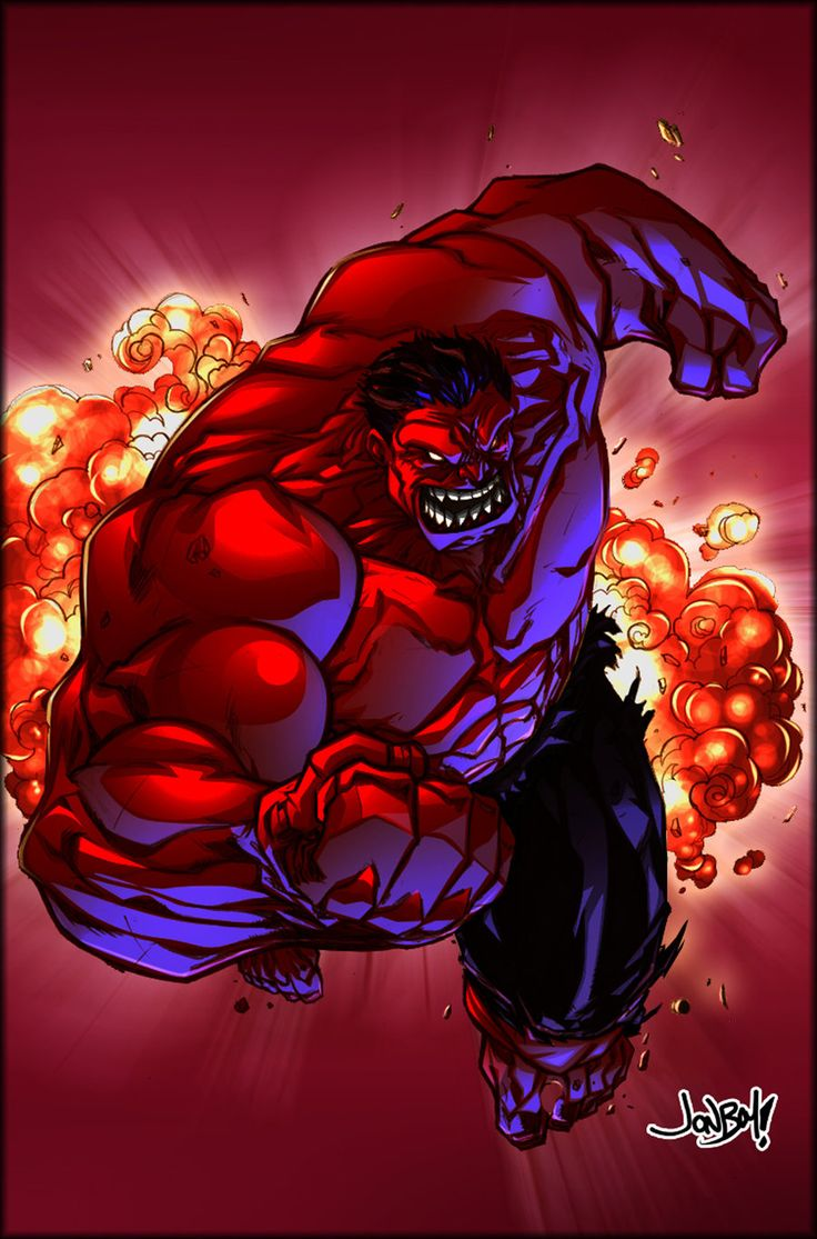 Red Hulk by Jonboy Meyers