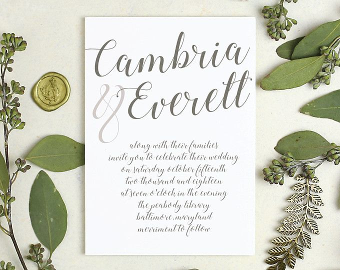 12 best Everly Wedding Card images – Card Stock for Invitations