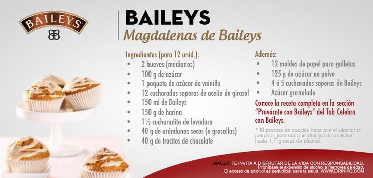 Magdalenas de Baileys