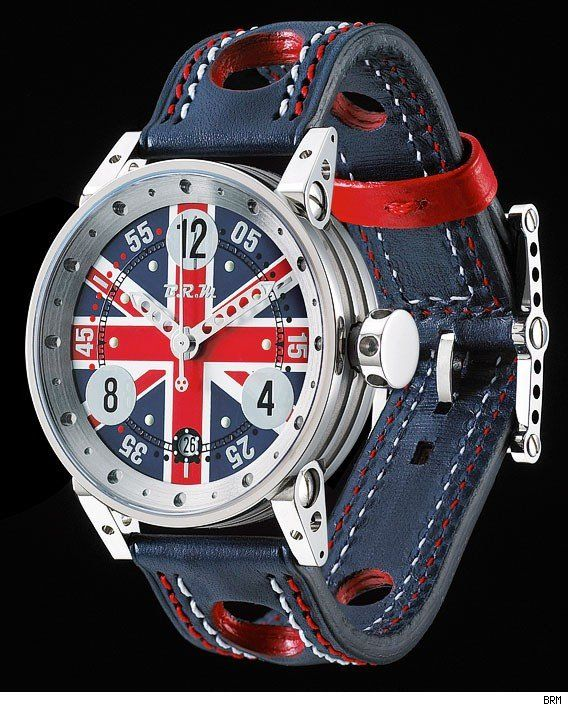 B.R.M. V7-38 and V6-44 Union Jack Watch : 44mm & 38mm : I generally roll with under stated timepieces. As an Anglophile, however, I'd make an exception.