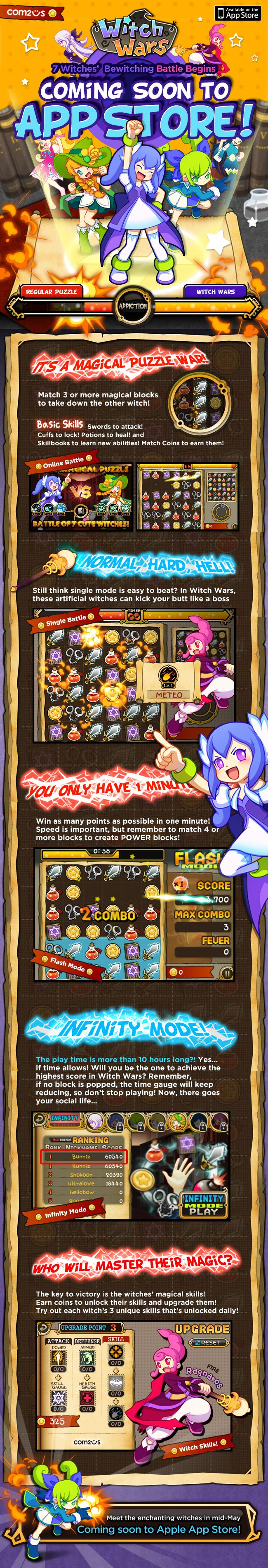 "Learn all about ""Witch Wars"" - Com2uS - iPhone Games, iPod Touch Games, Android Games 