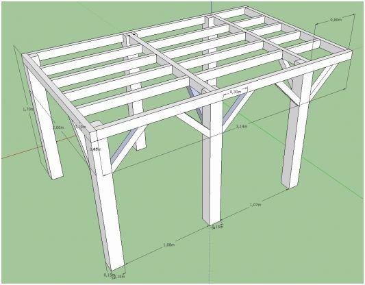Plan Pour Terrasse En Bois Sur Pilotis