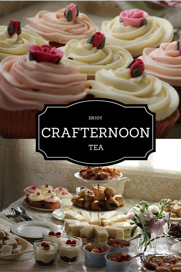 Enjoy a little Crafternoon Tea a perfect mix of fun, food and crafting.