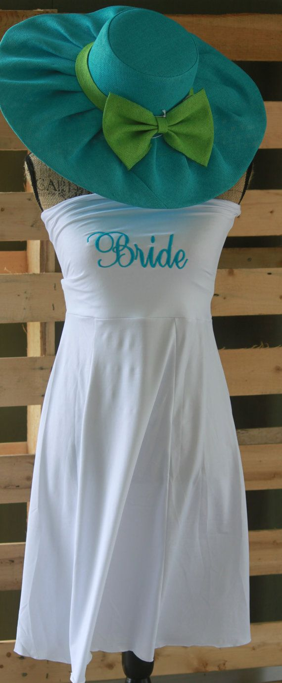 Monogrammed Womens Personalized Beach Swim Cover Up Bride Bridesmaids