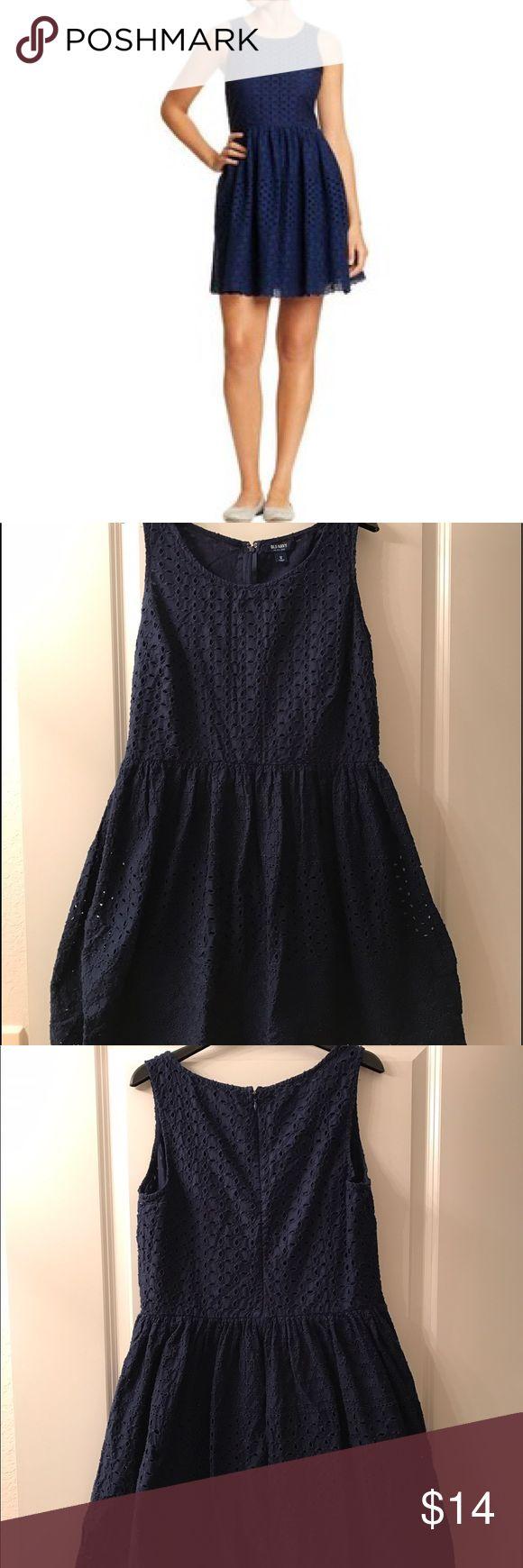 Old Navy Dress Old Navy navy blue eyelet dress Old Navy Dresses