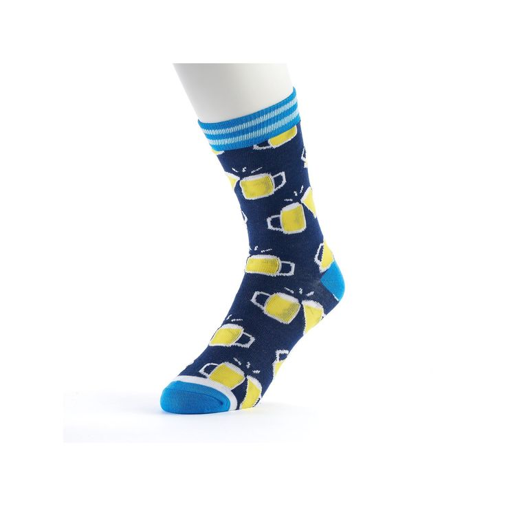 Men's Novelty Socks, Blue (Navy)