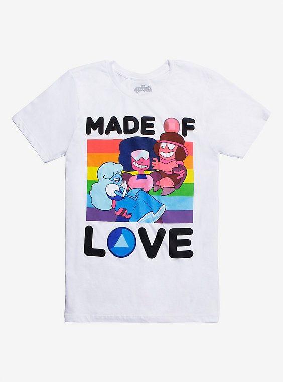 9bbfce8959b0 Steven Universe Made Of Love T-Shirt | hint hint | Steven universe ...