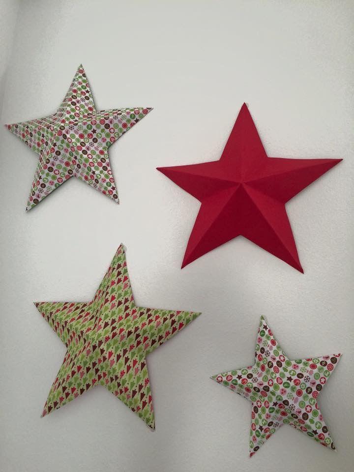 3d paper stars