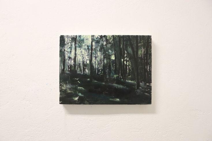 "original painting ""Park"", 30x20cm, oil on canvas, 2017  by Rūta Matulevičiūtė"