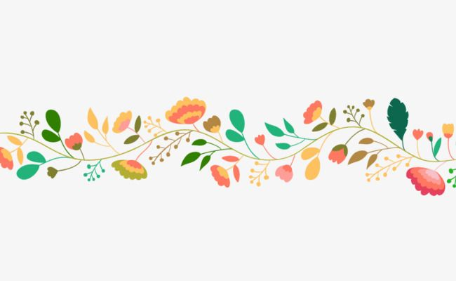 Color Hand Painted Floral Banner Creatives Color Clipart Banner