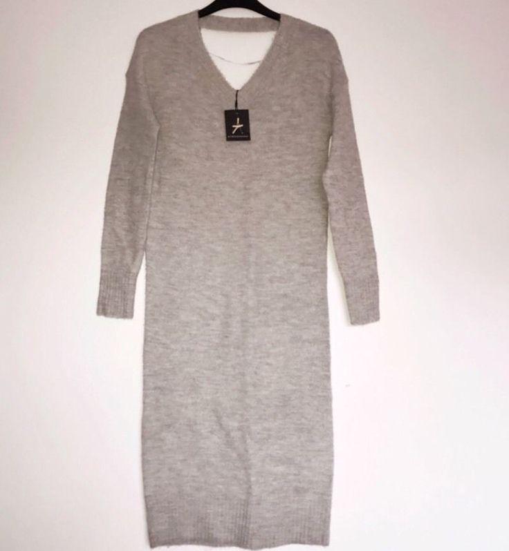 -% ATMOSPHERE PRIMARK grey Long Jumper Dress MUST HAVE UK 6    eBay