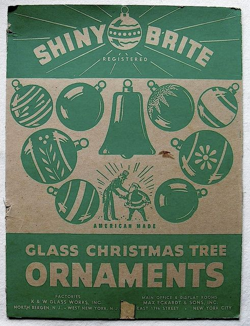 Nothing says Vintage Christmas like a Shiny Brite ornament box...makes my heart beat fast!